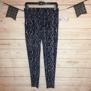 INC Snakeskin Animal Print Jogger Pants Size S
